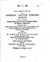Diss. de consensu partium corporis humani