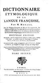 Dictionnaire étymologique de la langue françoise: Volume2