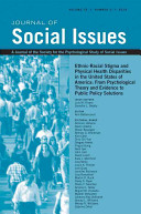 Journal of Social Issues  Ethnic Racial Stigma and Physical Health Disparities in the United States of America PDF