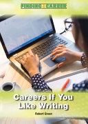 Careers If You Like Writing PDF