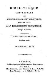 Bibliothèque universelle des sciences, belles-lettres et arts, rédigée à Genève. Sciences et arts: Volume32