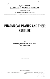 Pharmacal Plants and Their Culture