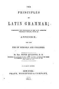 Principles of Latin Grammar