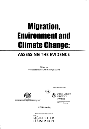 Migration, Environment and Climate Change