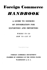 Foreign Commerce Handbook  Basic Information and a Guide to Sources PDF