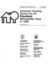 Current housing reports: American housing survey, Birmingham, AL, metropolitan statistical area. Housing characteristics for selected metropolitan areas