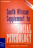South African Supplement to Social Psychology PDF