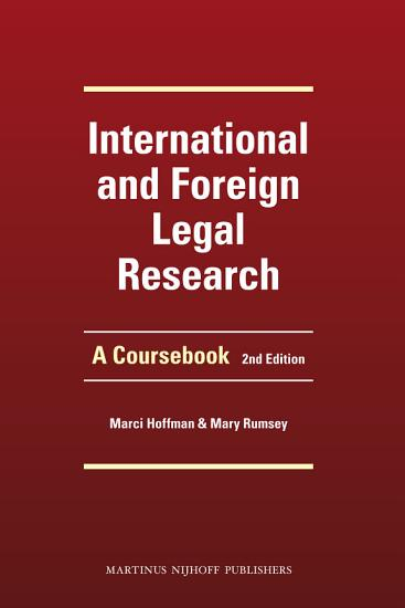 International and Foreign Legal Research PDF
