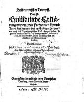 Heilbrunnischer Trumpff, Das ist, Gründtliche Erklärung, wie die zwen Predicanten Lip vnd Jacob Heilbrunner deß vnschuldigen Luthers, wie auch des Regenspurgischen Postcolloquij halber, so schwach vnd müde worden, daß sie an jetzo von M. Conrado Andreae, ein freundtliches Urlaub zunemmen ... gedrungen worden