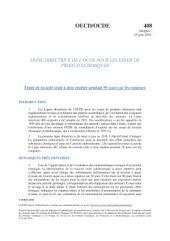 Lignes directrices pour les essais de produits chimiques / Section 4: Effets sur la santé Essai n° 408: Toxicité orale à doses répétées - rongeurs: 90 jours