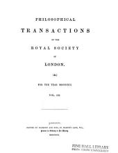 Philosophical Transactions of the Royal Society of London: A.