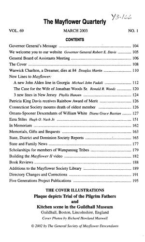 The Mayflower Quarterly PDF