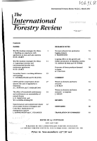 The International Forestry Review PDF