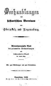 Verhandlungen des Historischen Vereins für Oberpfalz und Regensburg: VHVO, Band 24