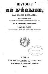Histoire de l'Eglise: Volume1