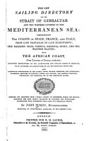 The New Sailing Directory for the Strait of Gibralter and the Western Division of the Mediterranean Sea PDF