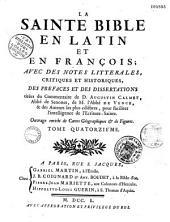La Sainte Bible en latin et en françois