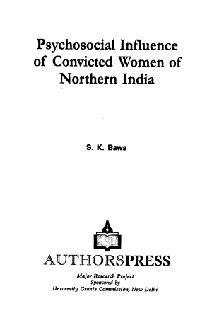 Psychosocial Influence of Convicted Women of Northern India PDF