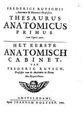 Thesaurus anatomicus primus [...].