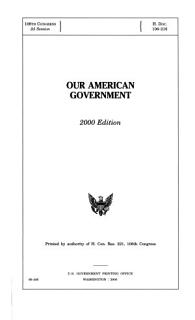 Our American Government Book