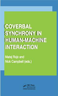 Coverbal Synchrony in Human Machine Interaction PDF