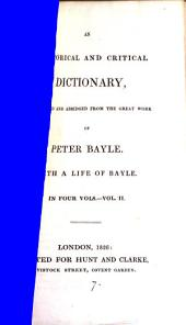 An historical and critical dictionary, selected and abridged: Volume 2