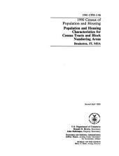1990 Census of Population and Housing: Population and housing characteristics for census tracts and block numbering areas. Bradenton, FL MSA.