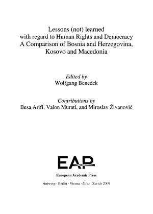 Lessons  not  Learned with Regard to Human Rights and Democracy PDF
