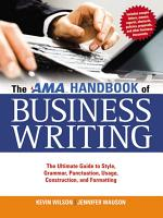 The AMA Handbook of Business Writing PDF