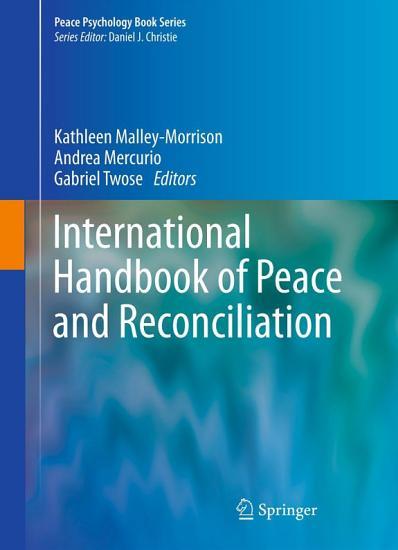 International Handbook of Peace and Reconciliation PDF