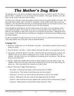 Jan Brett Literature Activities--The Mother's Day Mice