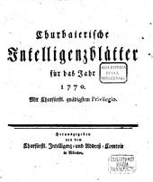 Churbaierisches Intelligenzblatt: 1770