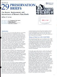 The Repair  Replacement  and Maintenance of Historic Slate Roofs PDF