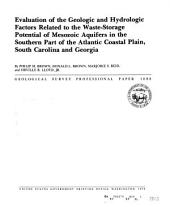 Evaluation of the geologic and hydrologic factors related to the waste-storage potential of Mesozoic aquifers in the southern part of the Atlantic Coastal Plain, South Carolina, and Georgia