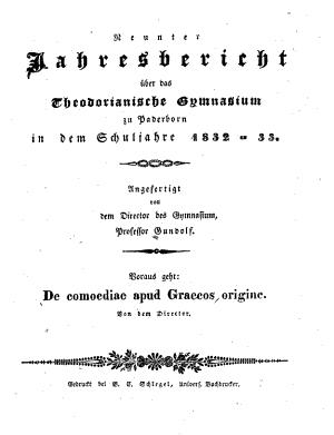 De comoediae apud Graecos origine PDF