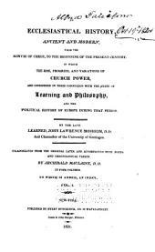 An Ecclesiastical History: Volume 1