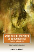 What Do Philosophers of Education Do  PDF
