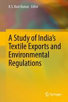 A Study of India s Textile Exports and Environmental Regulations PDF