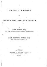 A General Armory of England  Scotland  and Ireland   With a  correcting Sheet  and Supplement   PDF