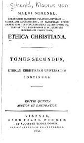 Ethica christiana: Volume 2