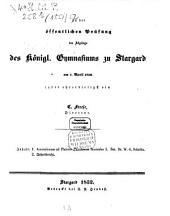 Zu der öffentlichen Prüfung der Schüler des Königlichen Gymnasiums zu Stargard ... ladet ehrerbietigst ein: 1851/52