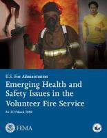 Emerging Health and Safety Issues in the Volunteer Fire Service PDF