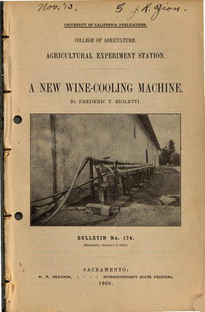 A new wine cooling machine