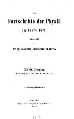Die Fortschritte der Physik Berlin0 PDF