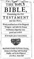 The Holy Bible  Containing the Old Testament and the New  Etc PDF