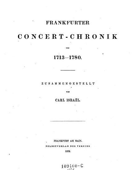 Frankfurter Concert Chronik von 1713   1780 PDF