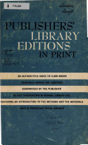 Publishers  Library Bindings in Print PDF