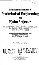 Recent Developments in Geotechnical Engineering for Hydro Projects
