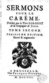 Sermons pour le carême: Volume2