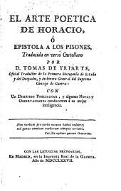 El arte poética de Horacio, ó, Epístola a los pisones